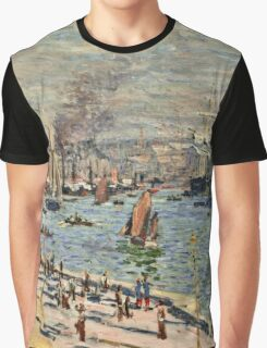 Claude Monet - Port of Le Havre (1874)  Graphic T-Shirt