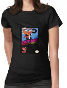 Excitebike Womens Fitted T-Shirt