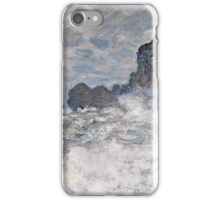 Claude Monet - Rough weather at Etretat ((1883))  iPhone Case/Skin