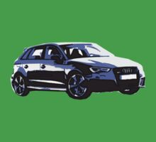 Awesome AUDI RS3 S3 VAG VW JDM - Street Car sports hatchback art Graffiti Popart  warhol Kids Tee