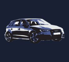Awesome AUDI RS3 S3 VAG VW JDM - Street Car sports hatchback art Graffiti Popart  warhol One Piece - Long Sleeve