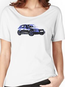Awesome AUDI RS3 S3 VAG VW JDM - Street Car sports hatchback art Graffiti Popart  warhol Women's Relaxed Fit T-Shirt