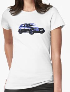 Awesome AUDI RS3 S3 VAG VW JDM - Street Car sports hatchback art Graffiti Popart  warhol Womens Fitted T-Shirt