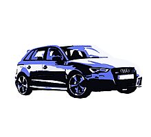 Awesome AUDI RS3 S3 VAG VW JDM - Street Car sports hatchback art Graffiti Popart  warhol Photographic Print