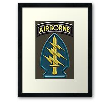 US Army Special Forces Airborne Insignia Framed Print