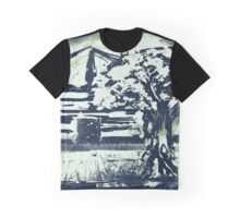Black and White Stamped Autumn Tree Graphic T-Shirt