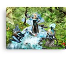 Spirits of the Water {Digital Fantasy Figure Illustration} Canvas Print