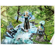 Spirits of the Water {Digital Fantasy Figure Illustration} Poster