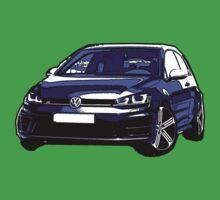 Awesome VOLKSWAGEN R GTI GT GTD VAG VW JDM - Street Car sports hatchback art Graffiti Popart  warhol Kids Tee