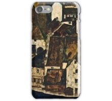 Egon Schiele - Dead City III (City on the Blue River III) (1911)  iPhone Case/Skin