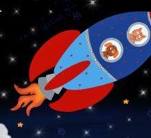 Space - Rocket - Cat - Dog Sticker