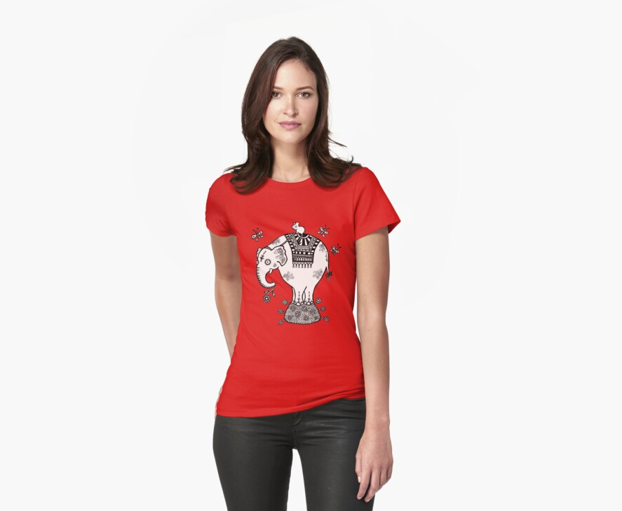 White Elephant T-Shirt by Anita Inverarity