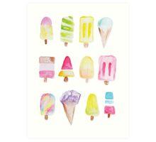 Popsicle Ice cream watercolor print  Art Print