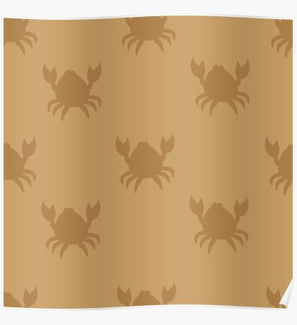 Crabs on brown Poster
