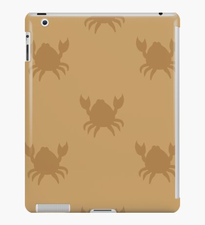 Crabs on brown iPad Case/Skin