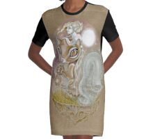 The Squirrel and the Wild Girl Graphic T-Shirt Dress