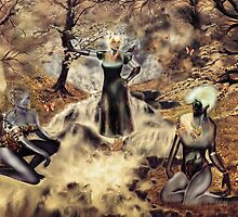 Spirits of the Water {Digital Fantasy Figure Illustration} Autumn Colour Mix by Grant Wilson