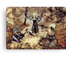 Spirits of the Water {Digital Fantasy Figure Illustration} Autumn Colour Mix Canvas Print