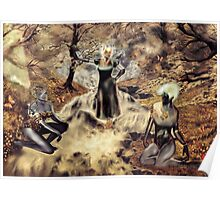 Spirits of the Water {Digital Fantasy Figure Illustration} Autumn Colour Mix Poster