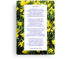 "Wordsworth's ""Daffodils"", especially good as a card. Canvas Print"