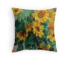 Claude Monet - Sunflowers 2  Throw Pillow