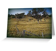 Boundary Fence Greeting Card