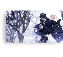 Fate Zero Saber and Kiritsugu Emiya Canvas Print