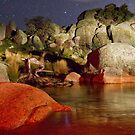Night River Rocks by Barry Armstead