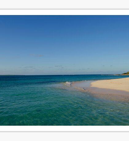 Beach in the Carribean Sticker
