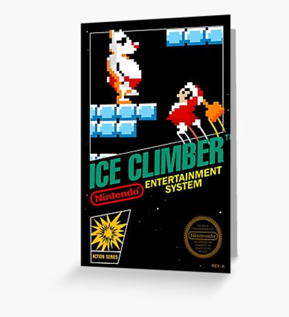 Ice Climber Greeting Card