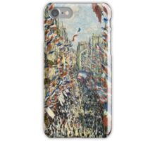 Claude Monet - The Rue Montorgueil in Paris  Celebration of June 30, 1878  iPhone Case/Skin