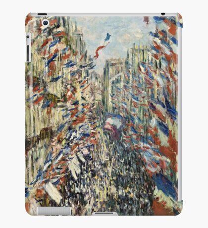 Claude Monet - The Rue Montorgueil in Paris  Celebration of June 30, 1878  iPad Case/Skin