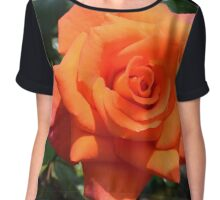 red orange rose with bright petals Chiffon Top