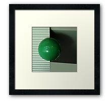 Green ball Framed Print