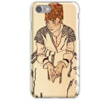 Egon Schiele - Portrait of the Artists Sister in Law, Adele Harms, 1917  iPhone Case/Skin