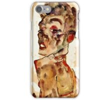 Egon Schiele - Self Portrait with Splayed Fingers (1911)  iPhone Case/Skin