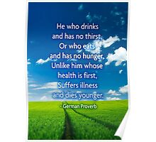 German Health Proverb Poster