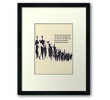 Suffragettes - Emmeline Pankhurst quote Framed Print