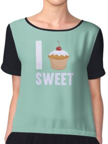 Girly I love Sweet Muffin Cup Cake Chiffon Top