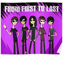 From First To Last band Poster