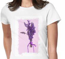 Purple Salvia - Digital Oil Womens Fitted T-Shirt