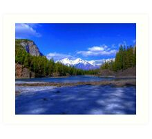 Bow River HDR, Canada Art Print