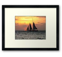 Sunset Sail in Key West Framed Print