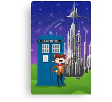 11th Doctor Pixel Art Canvas Print
