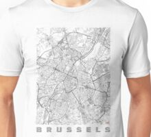 Brussels Map Line Unisex T-Shirt