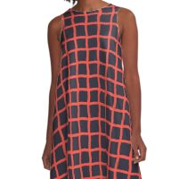 Grid Pro Quo A-Line Dress