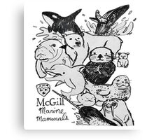 McGill Marine Mammals Canvas Print
