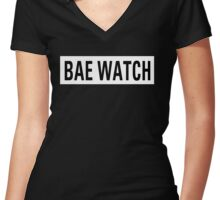 Bae Watch Women's Fitted V-Neck T-Shirt