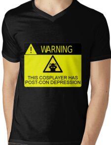 WARNING - POST-CON DEPRESSION Mens V-Neck T-Shirt