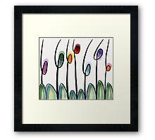 Modern art tulips  Framed Print